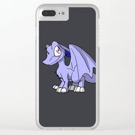 Moonlight SD Furry Dragon - Fantasy Illustration Cartoon Kawaii Cute Art Clear iPhone Case