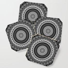 Black and White Mandala Coaster