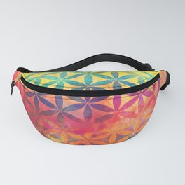 Rainbow Flower Of Life Fanny Pack