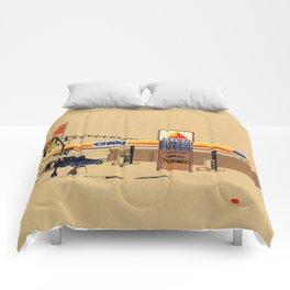 Berts Cafe screenprint Comforters