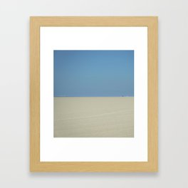 Deserted Tourists Framed Art Print