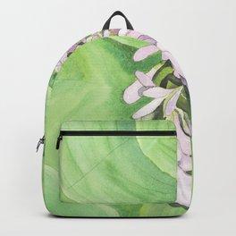 Watercolour Hosta Flower Backpack