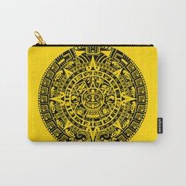 Mayan Calendar // Yellow Carry-All Pouch