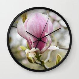 Singular Magnolia Wall Clock