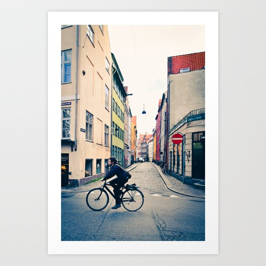 Copenhagen Cycle Style Art Print