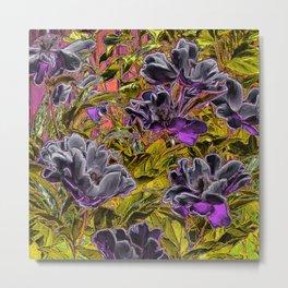 Great Flowers in purple Metal Print