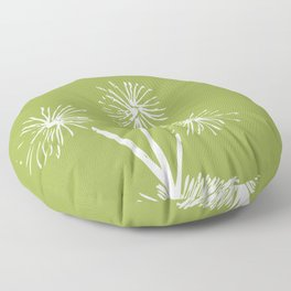 Three Dandelions Floor Pillow