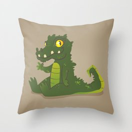 Baby Crocodile Throw Pillow