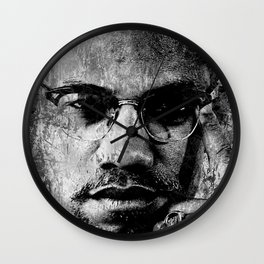 MALCOLM X (BLACK & WHITE VERSION) Wall Clock