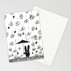 I'm only happy when it rains (skulls) Stationery Cards