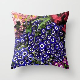 Rainbow Bouquets Throw Pillow