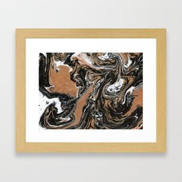 Fluid Gold - Abstract, acrylic, art painting Framed Art Print