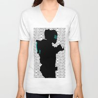 dead space V-neck T-shirts featuring Isaac - Dead Space by Leamartes