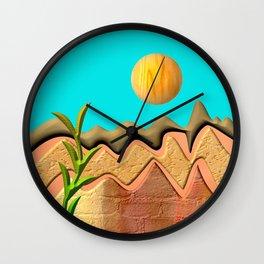 Mountain Worlds  Wall Clock