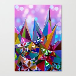 Festive colorful crystals Canvas Print