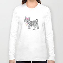 Typographic Yorkshire Terrier - Pink   #YorkshireTerrier #buyart Long Sleeve T-shirt