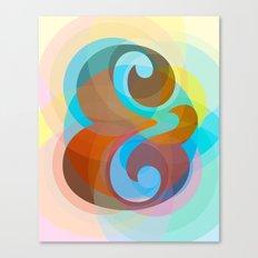 Geometric Ampersand Rainbow Canvas Print