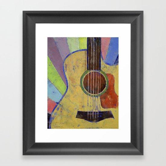 Sunrise Guitar Framed Art Print
