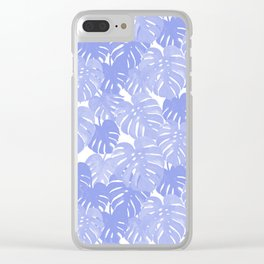 Pativa - pastel monstera palm leaves tropical summer palms Clear iPhone Case