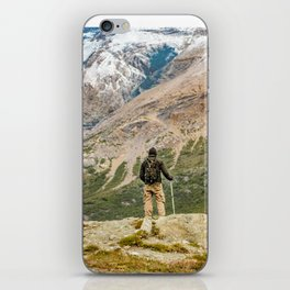 Man at Top of Andes Mountains, Patagonia - Argentina iPhone Skin