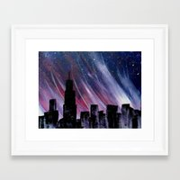 chicago Framed Art Prints featuring Chicago by Tesseract