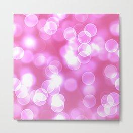 Pink Bokeh Metal Print