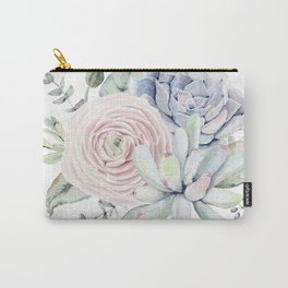 Succulent Blooms Carry-All Pouch