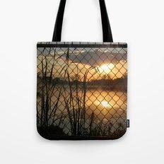 Fenced Sunrise Tote Bag