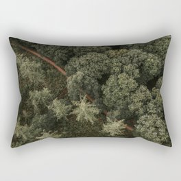 Dutch forest from above   Colourful Travel Photography   Veluwe, Holland (The Netherlands) Rectangular Pillow