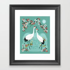 Cranes by Andrea Lauren Framed Art Print
