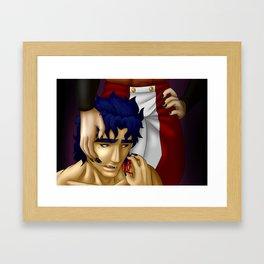 Vampire Seducton Framed Art Print