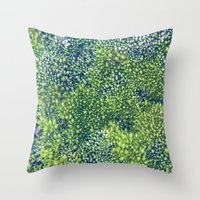 moss Throw Pillows featuring Moss by Scarlet