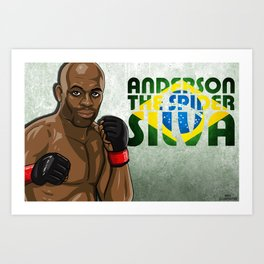 Anderson Silva Artwork Art Print