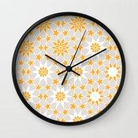 pivot Wall Clocks featuring Pivot Star Pattern  by Pivot Interiors
