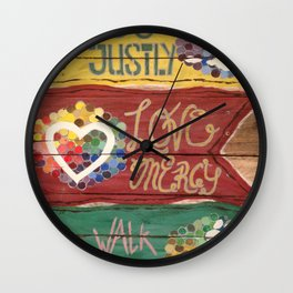 Do Justly Wall Clock