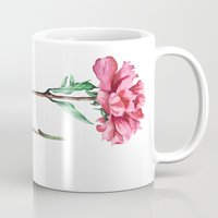 peony Mugs featuring Peony by Bridget Davidson