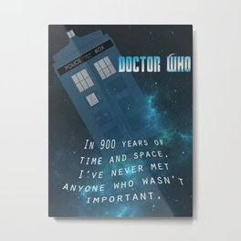 Doctor Who Tardis Quote Metal Print