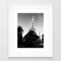 eiffel Framed Art Prints featuring Eiffel by Melynda Nichole