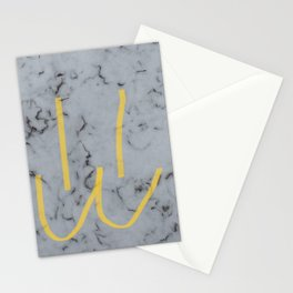 White Mew Face Stationery Cards