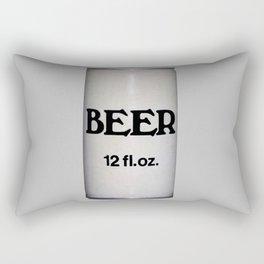 BEER ON GREY Rectangular Pillow
