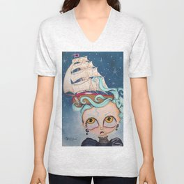 A Ship at Sea is Sure to Flee Unisex V-Neck