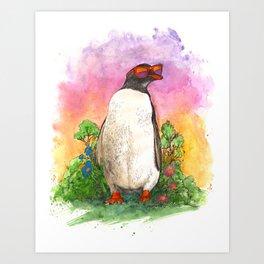 Mr. Penguin is Chillin Art Print