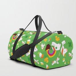 St. Patrick's Day Unicorn Pattern Duffle Bag