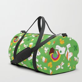 St. Patrick's Day Unicorn Pattern Duffle Bag