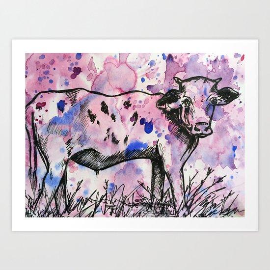Purple Cow Art Print