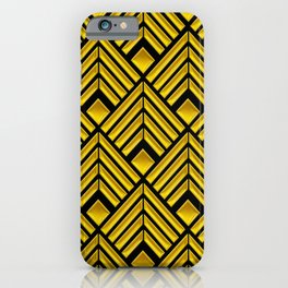 Exotic Art Deco Pattern: The Mademoiselle Is Incognito iPhone Case