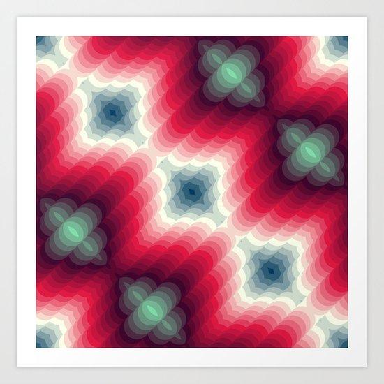 Optical Effect Art Print