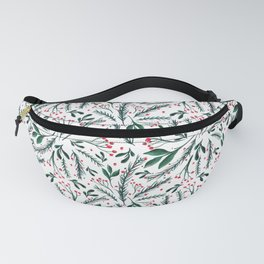 Christmas twigs and berries  Fanny Pack