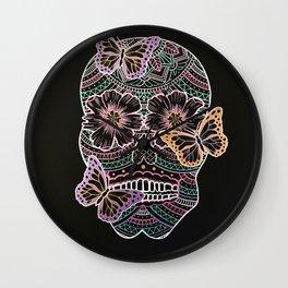 Butterfly Sugar Skull Wall Clock