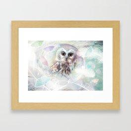 Chouette douceur Framed Art Print